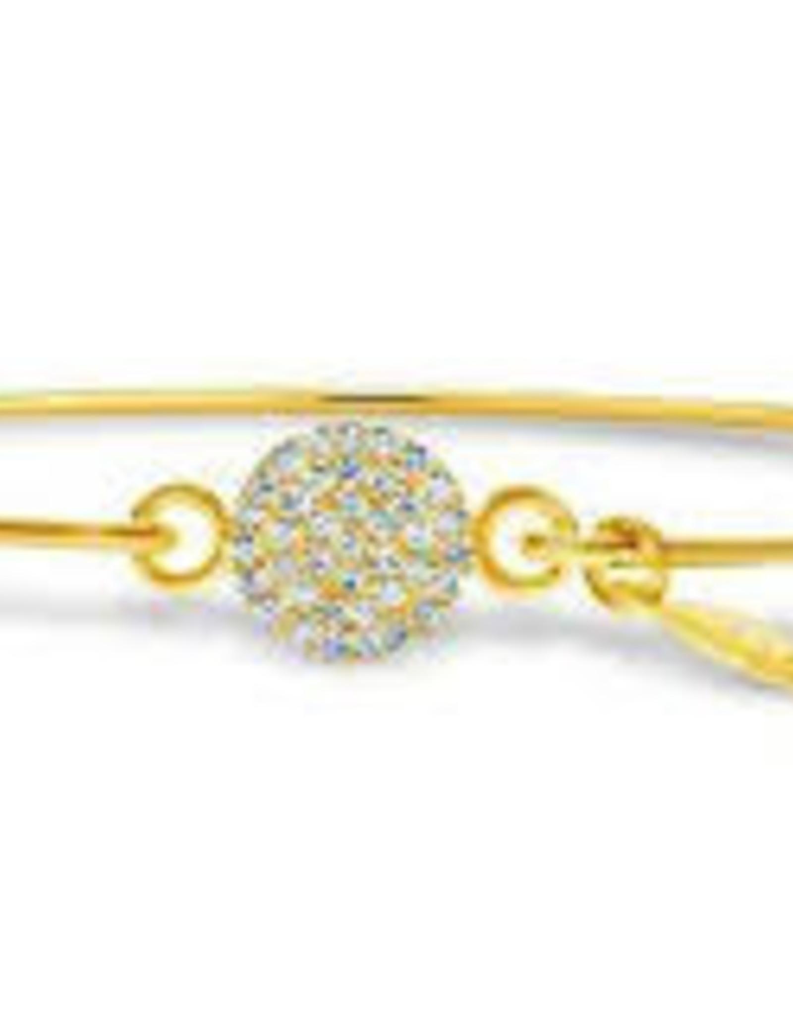 Stia Jewelry Pave Icon Bracelet G - Disk