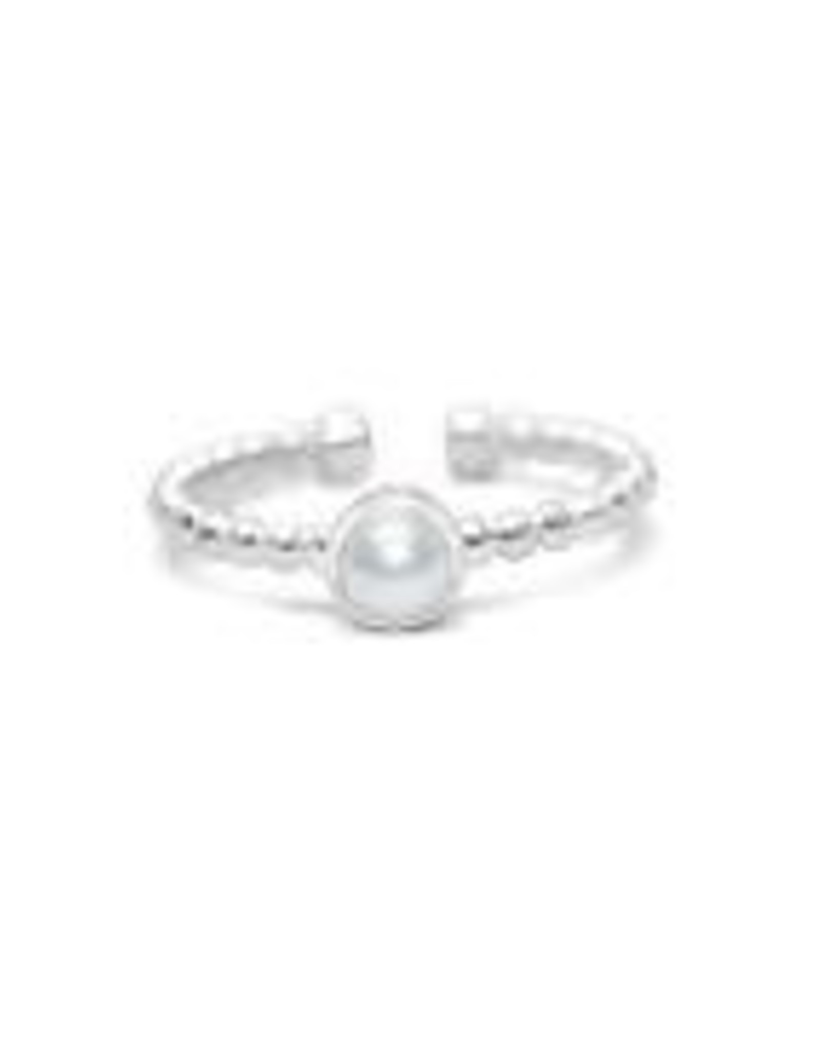 Stia Jewelry Droplet Wire Ring - Pearl, Sterling