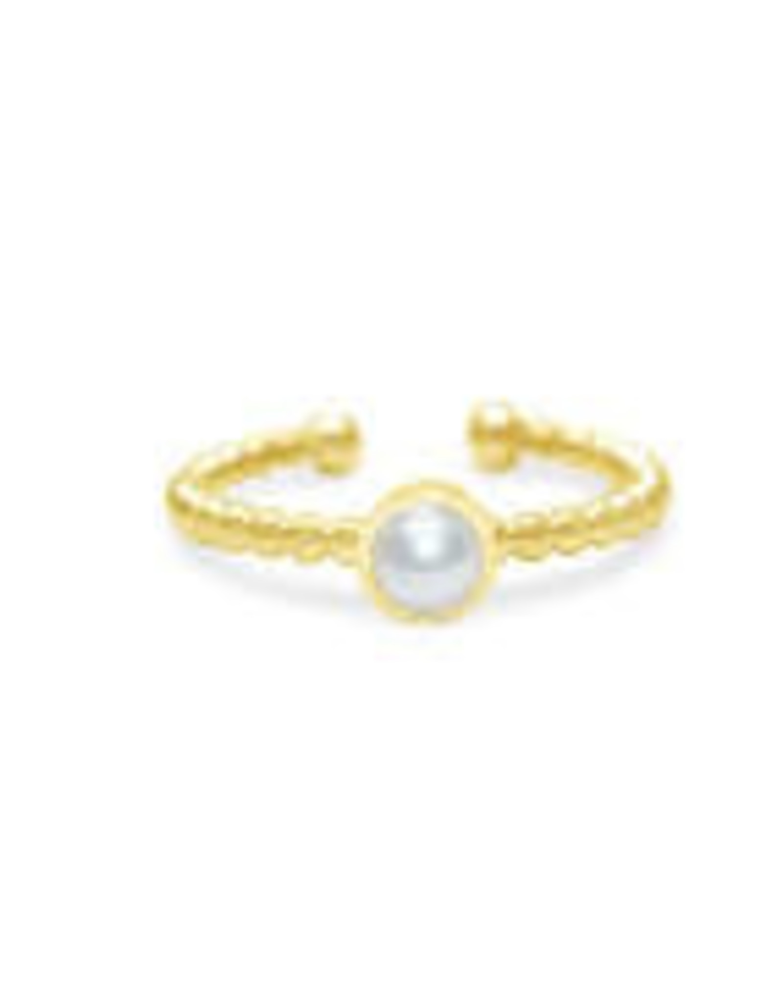 Stia Jewelry Droplet Wire Ring - Pearl, G