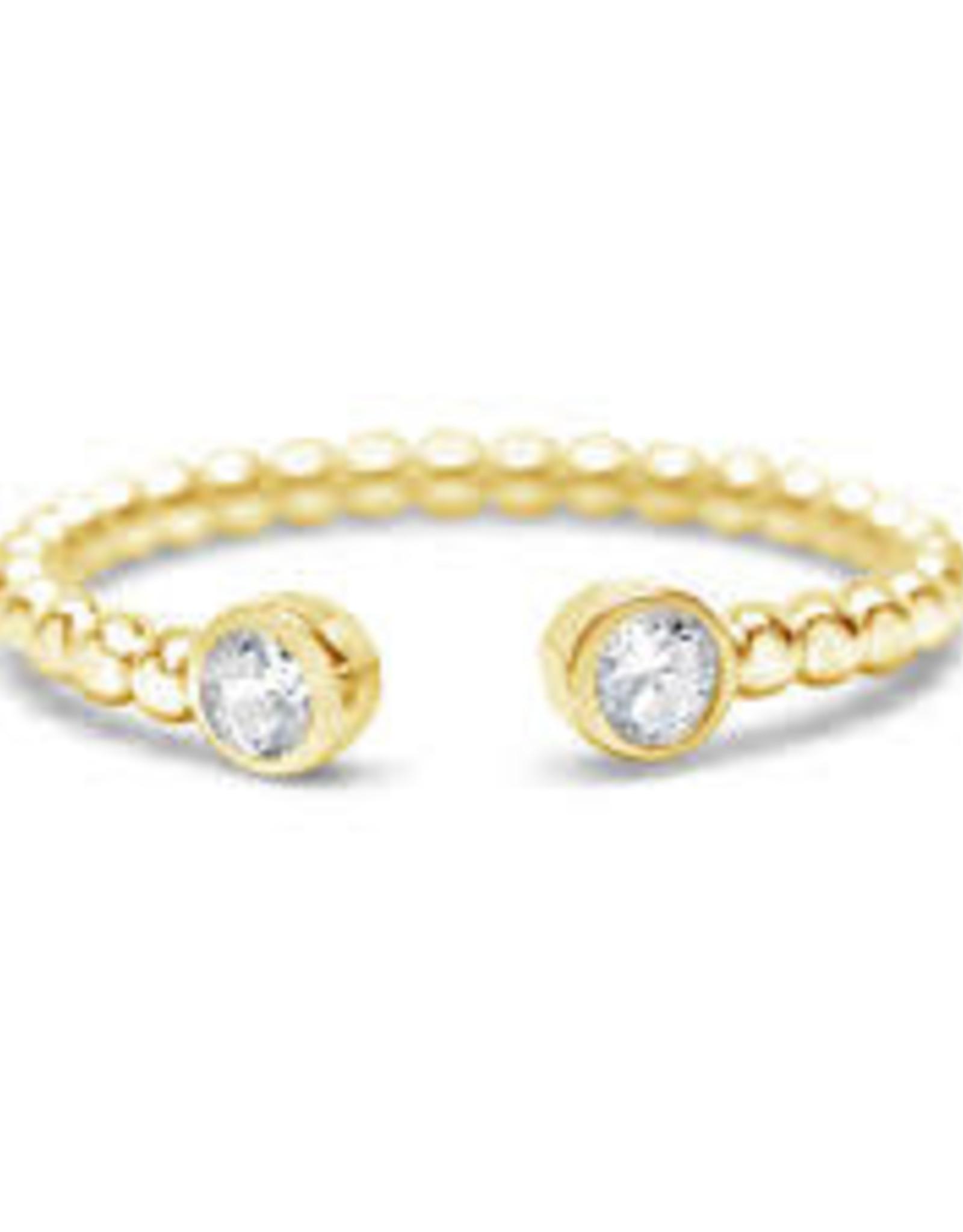 Stia Jewelry Droplet Wire Ring - CZ Bezel Cuff G