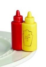 Nora Fleming Main Squeeze, ketchup mustard mini