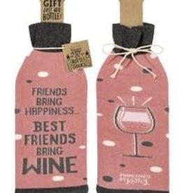 Friends Bring Wine Sock