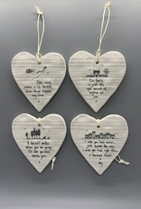 Full Heart Hanging Ornament