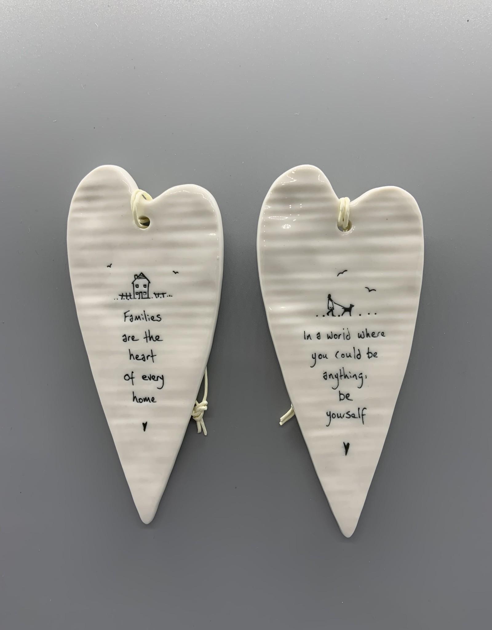 Long Heart Ceramic Hanging Ornament