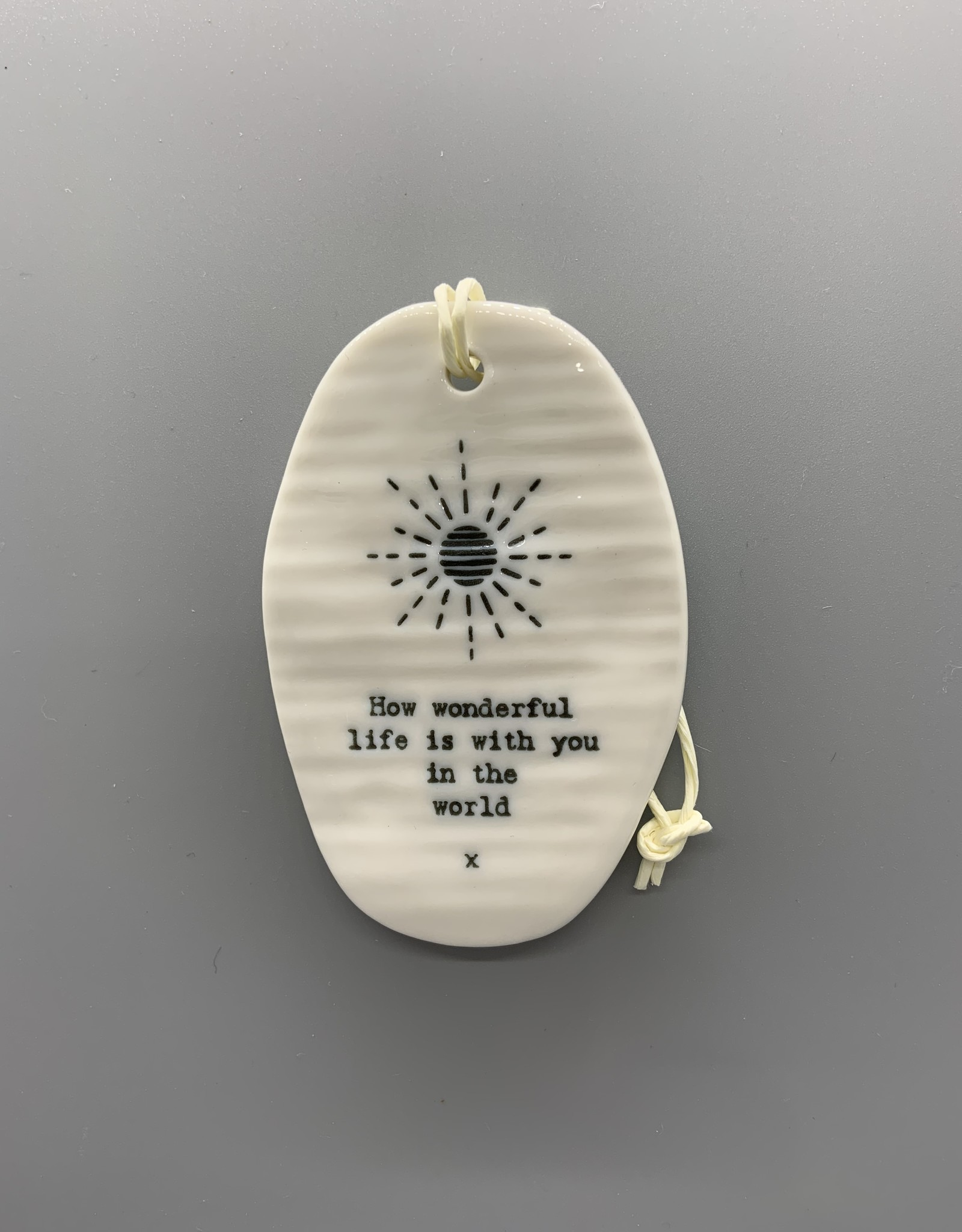 Ceramic Oval Hanging Ornament