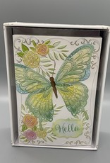 Pictura Note Cards - Green Butterfly