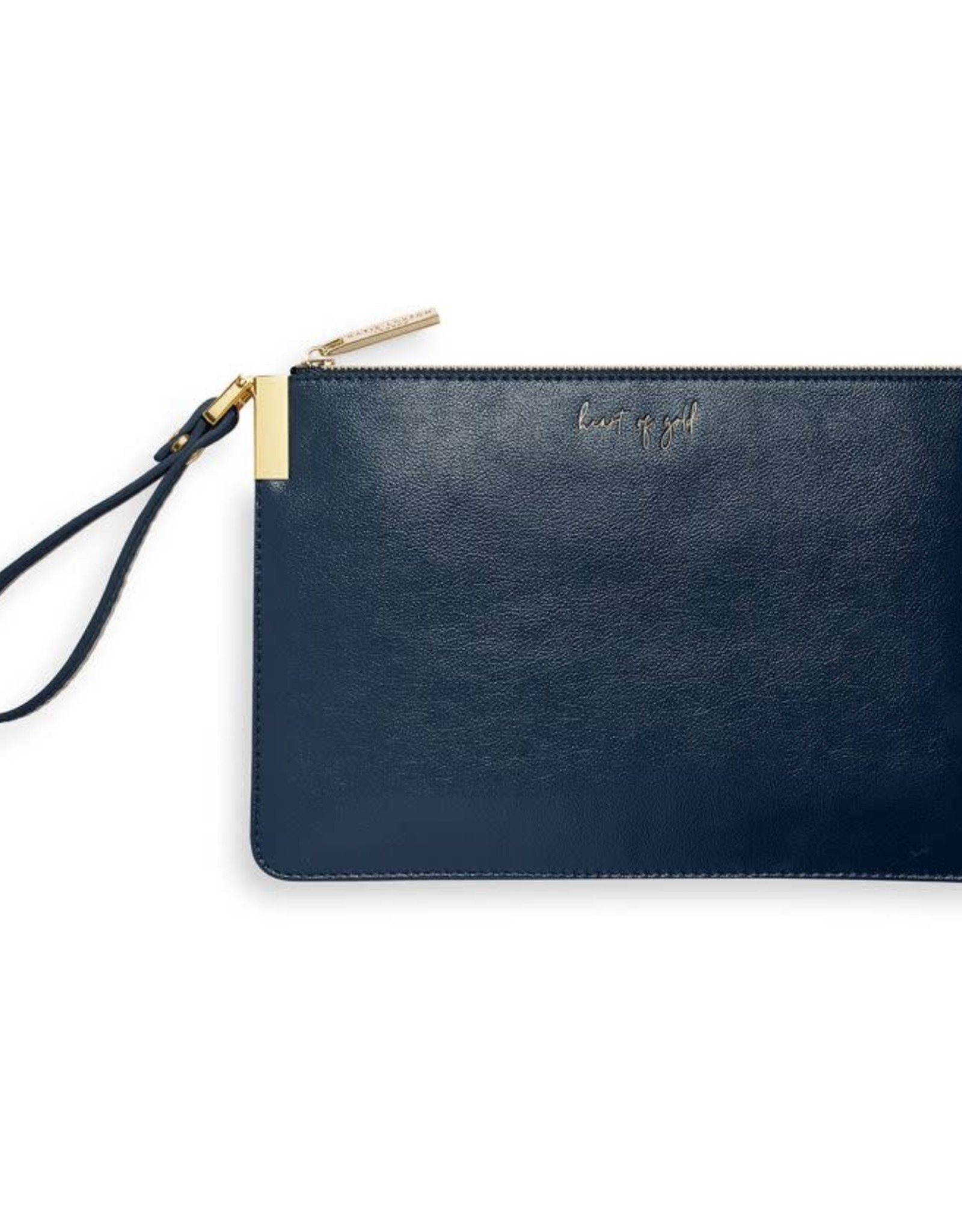 Katie Loxton Secret Message Clutch - Heart of Gold/To My Wonderful Mom Navy