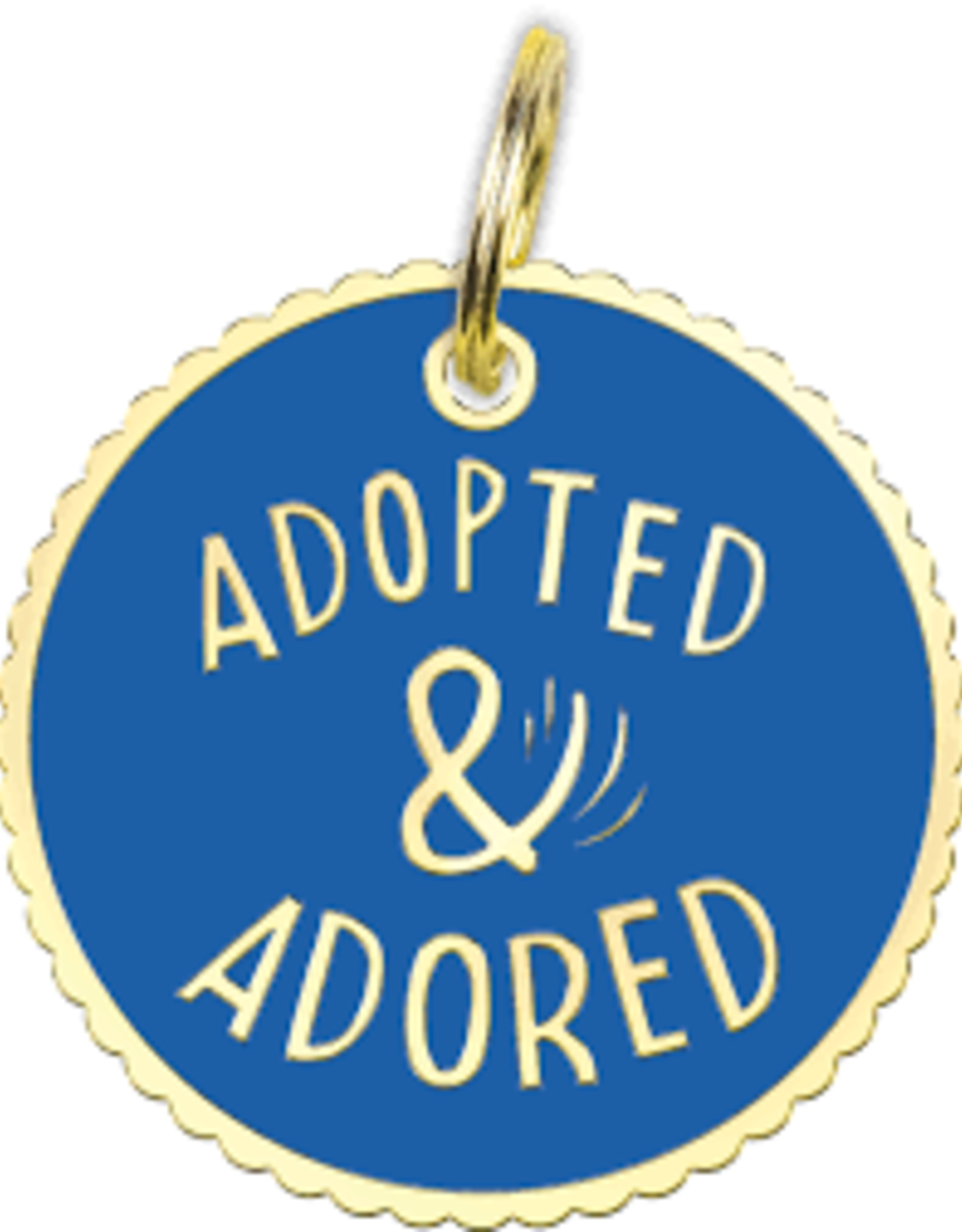 Collar Charm - Adopted Adored