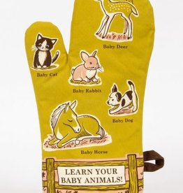 Blue Q Oven Mitt, Baby Animals