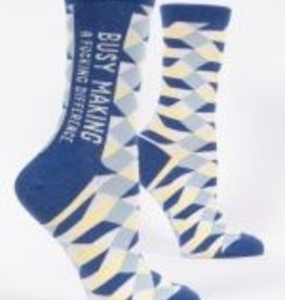 Blue Q Socks, Making A Difference