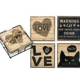 Coaster Set, Cat