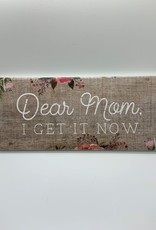 "Sincere Surroundings Block Sign, Long 12"" x 5 1/4"""
