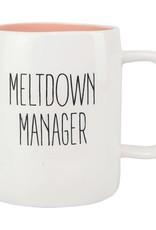 Mary Square Ceramic Mug, Meltdown Manager