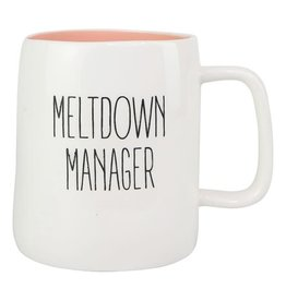 Mary Square Ceramic Mug, Meltdown Manager