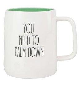 Mary Square Ceramic Mug, Calm Down