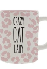 Mary Square Ceramic Mug, Crazy Cat Lady