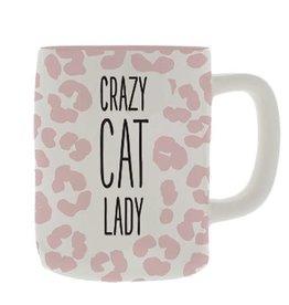 Mary Square Ceramic Mug, Crazy Cat Lady