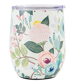 Mary Square Stainless Tumbler, Peach Floral
