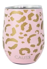 Mary Square Stainless Tumbler, Leopard Print