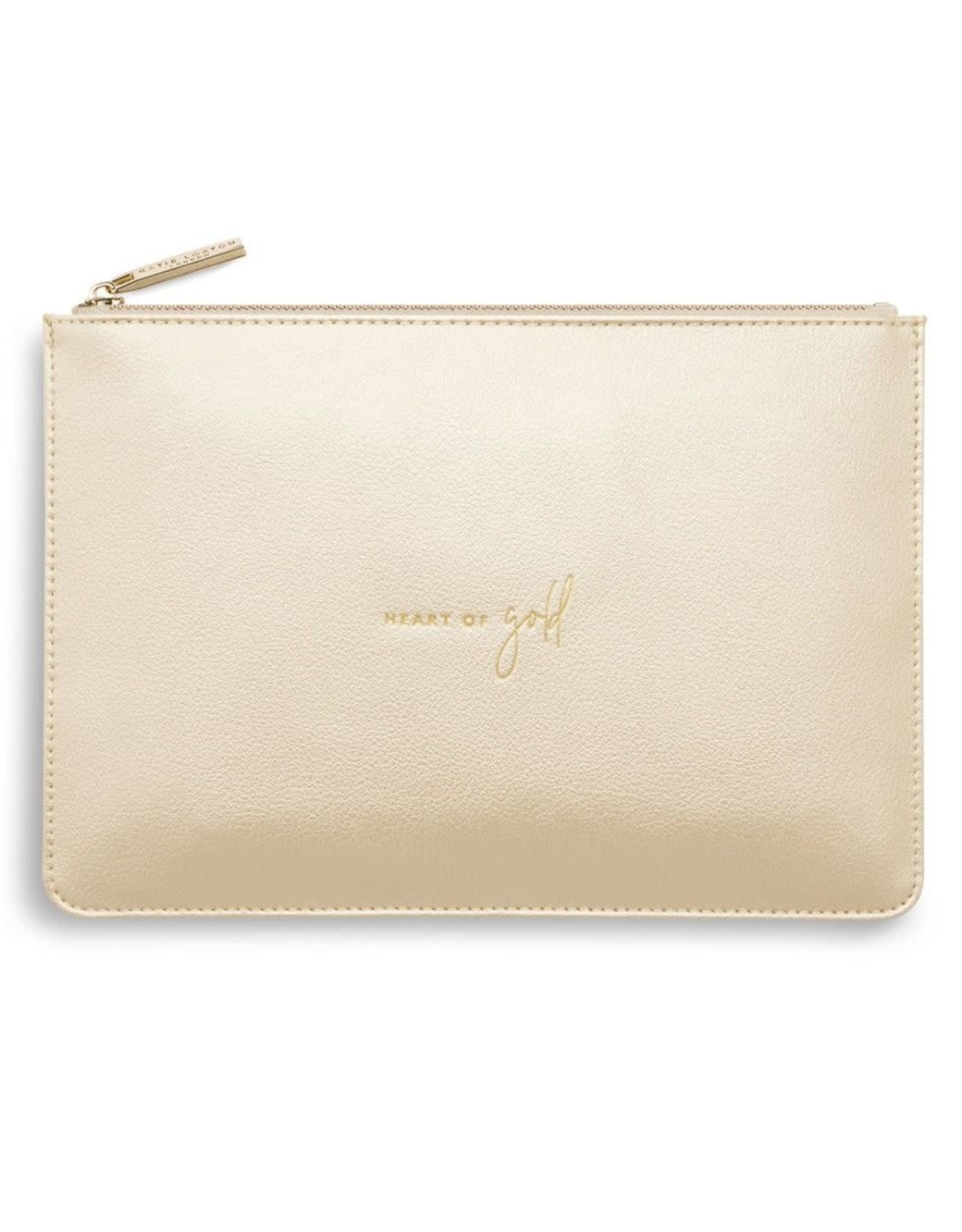 Katie Loxton Perfect Pouch - HEART OF GOLD - Champagne
