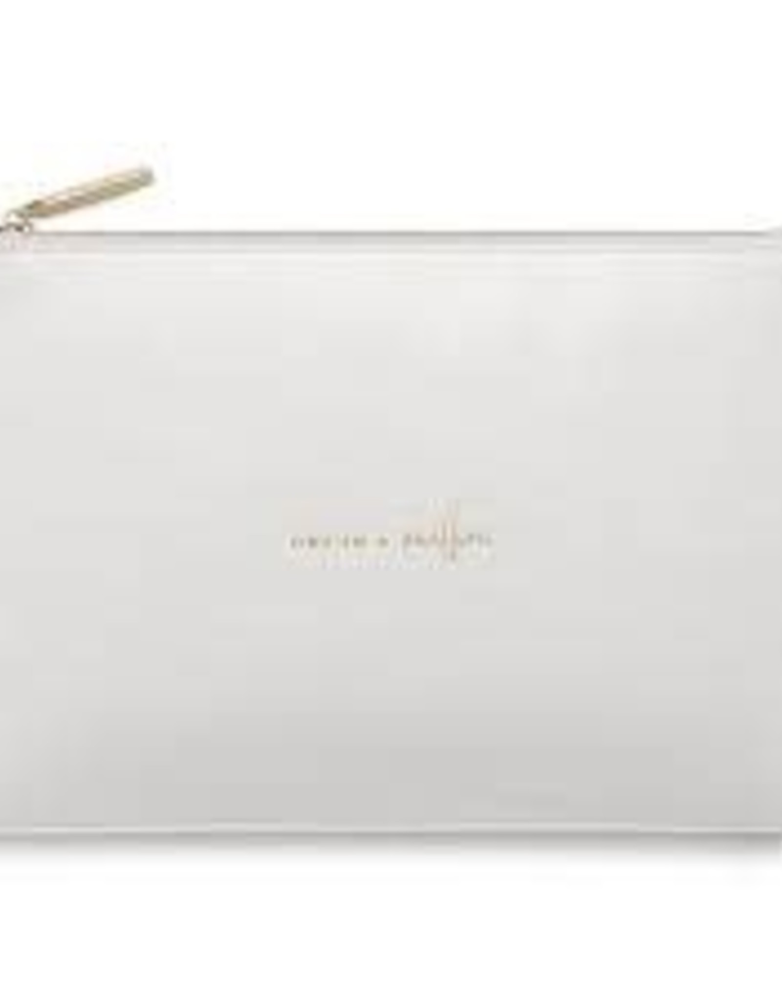 Katie Loxton Perfect Pouch - ONE IN A MILLION - Pale Grey