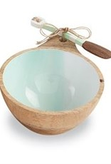 Aqua Beach Wood Dip Bowl
