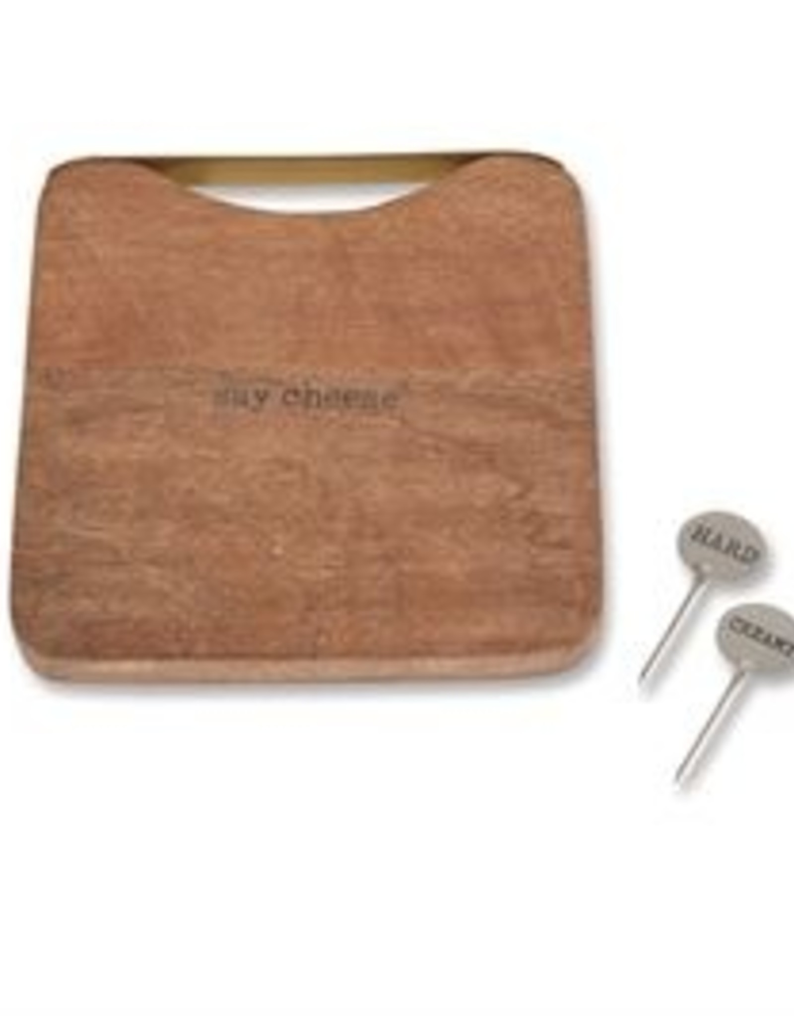 Square Wood Cheese Board Set