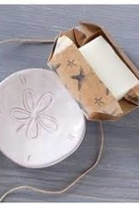 Sand Dollar Soap Dish Set