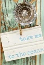 Take Me to The Ocean Wood Tag
