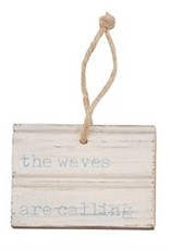 The Waves Are Calling Wood Tag