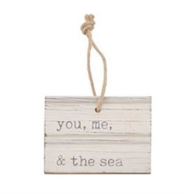 YOU ME BEACH CARVED WOOD TAG