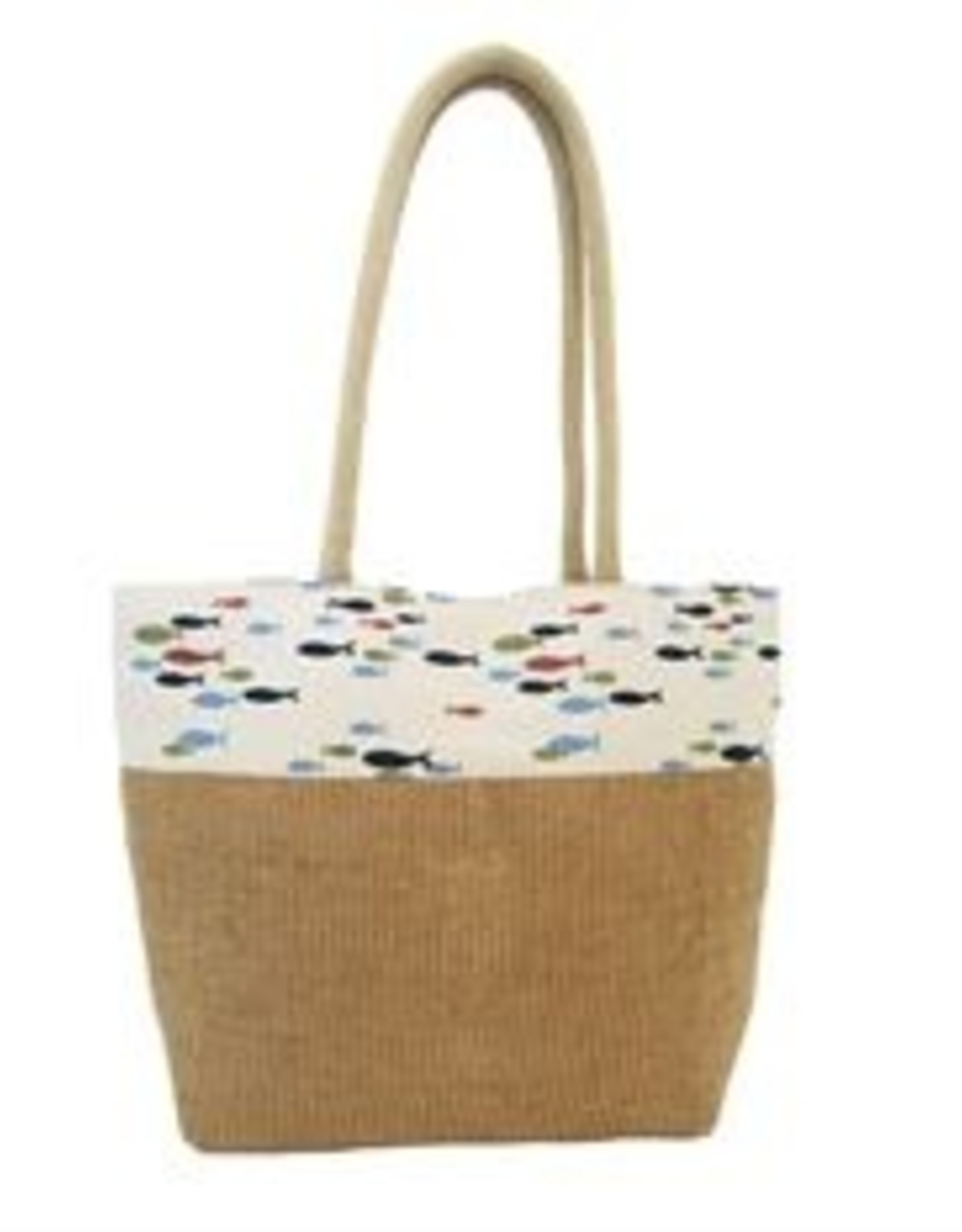 DEI Jute Tote with Little Fish