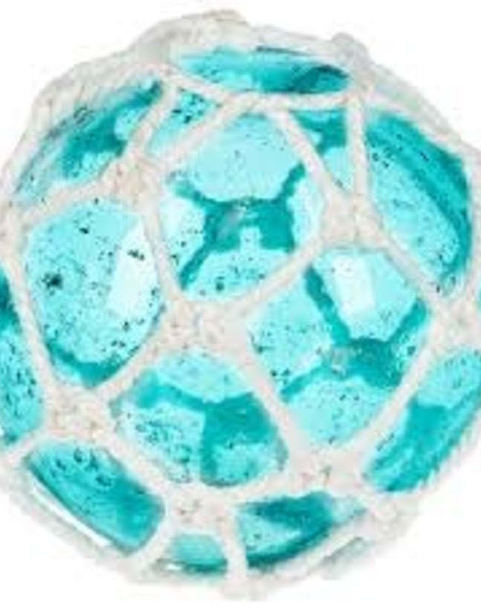 Recycled Glass Orb Rope Blue