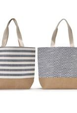 Mykonos Tote Bag w/Lining, Stripes