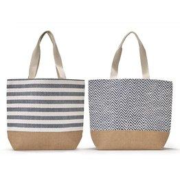 Mykonos Tote Bag w/Lining, Chevron