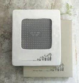 "White Ceramic Frame, 4x4"", Plants"