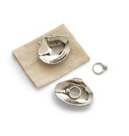 Shell Trinket Tray in Gift Pouch, Good Vibes