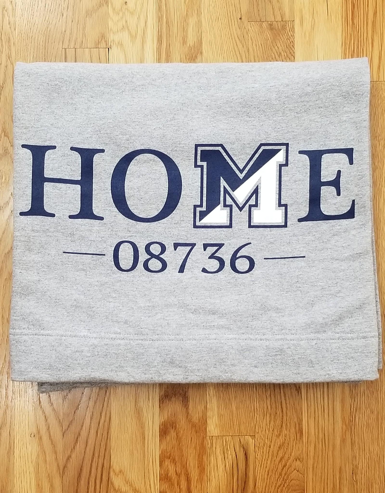Off Main Gifts HOME 08736 Fleece Blanket, Grey