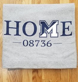 Off Main Gifts HOME 08736 Fleece Blanket, Grey