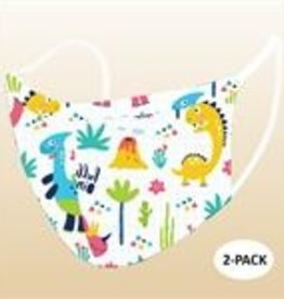 Childrens' Face Masks, 2 pk - Dinos