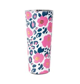 Mary Square Large Stainless Tumbler, Wild Posy