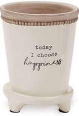Happiness Pazitive Flower Pot