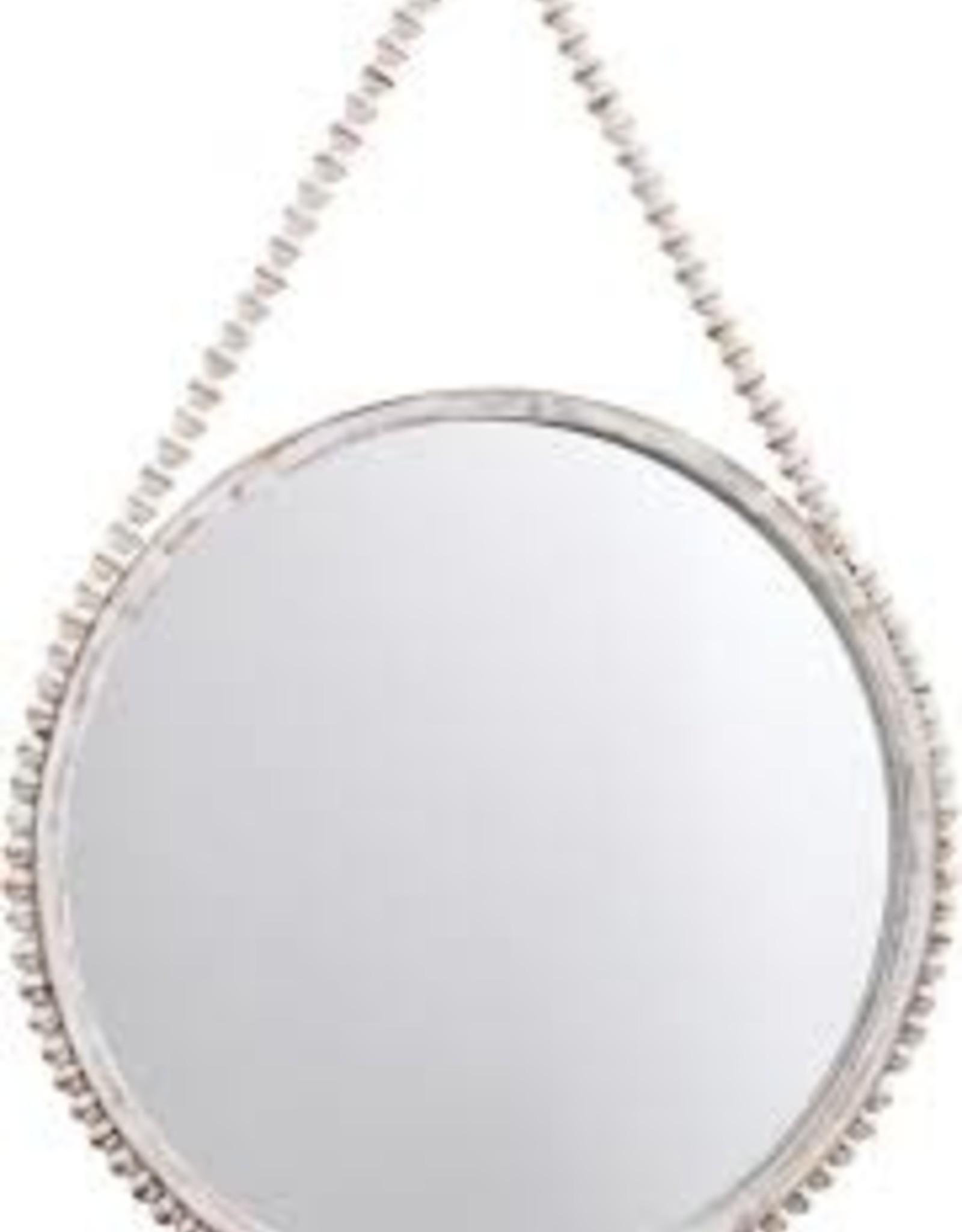 Hanging Beaded Mirror