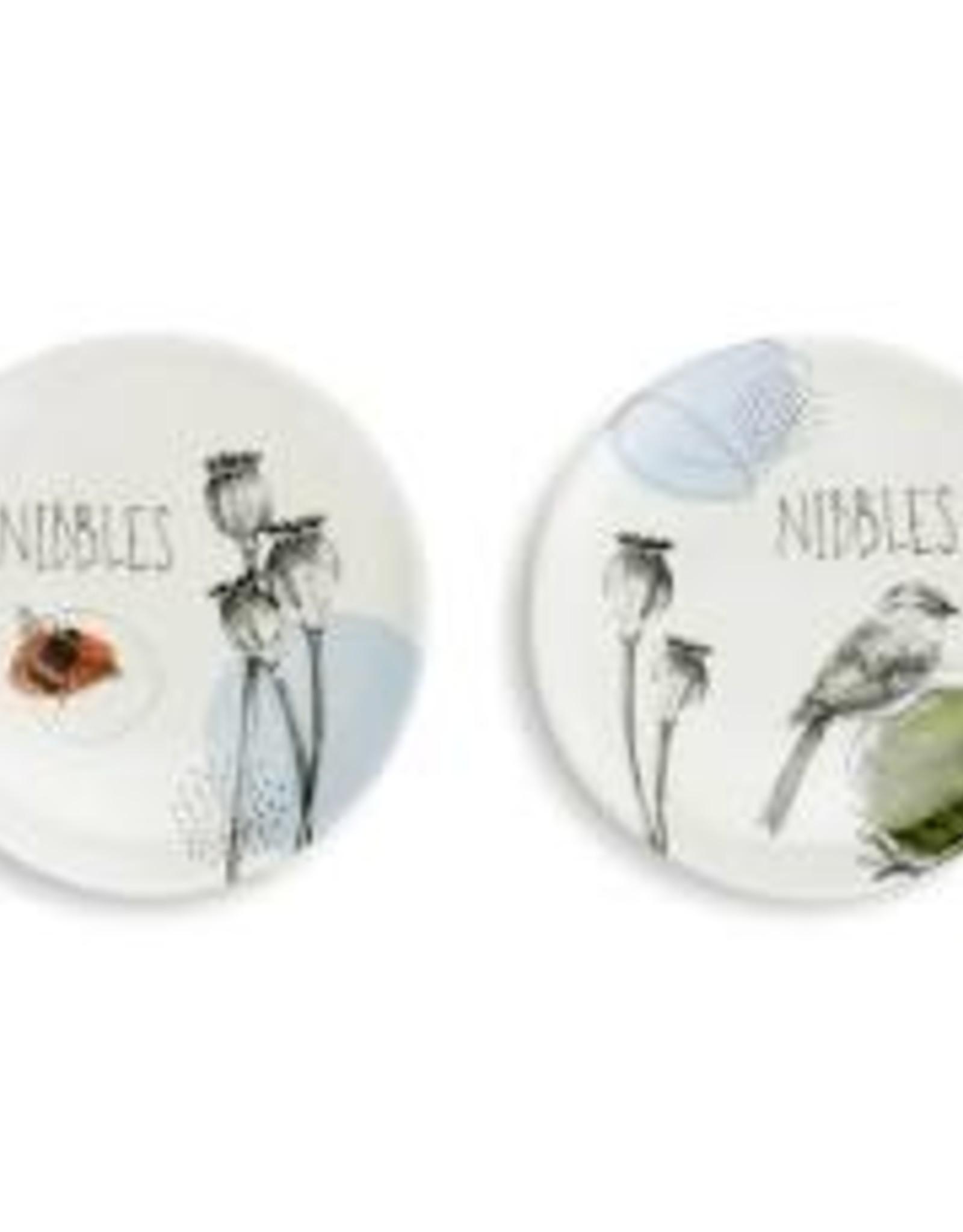Appetizer Plates, Set of 2, Nibbles