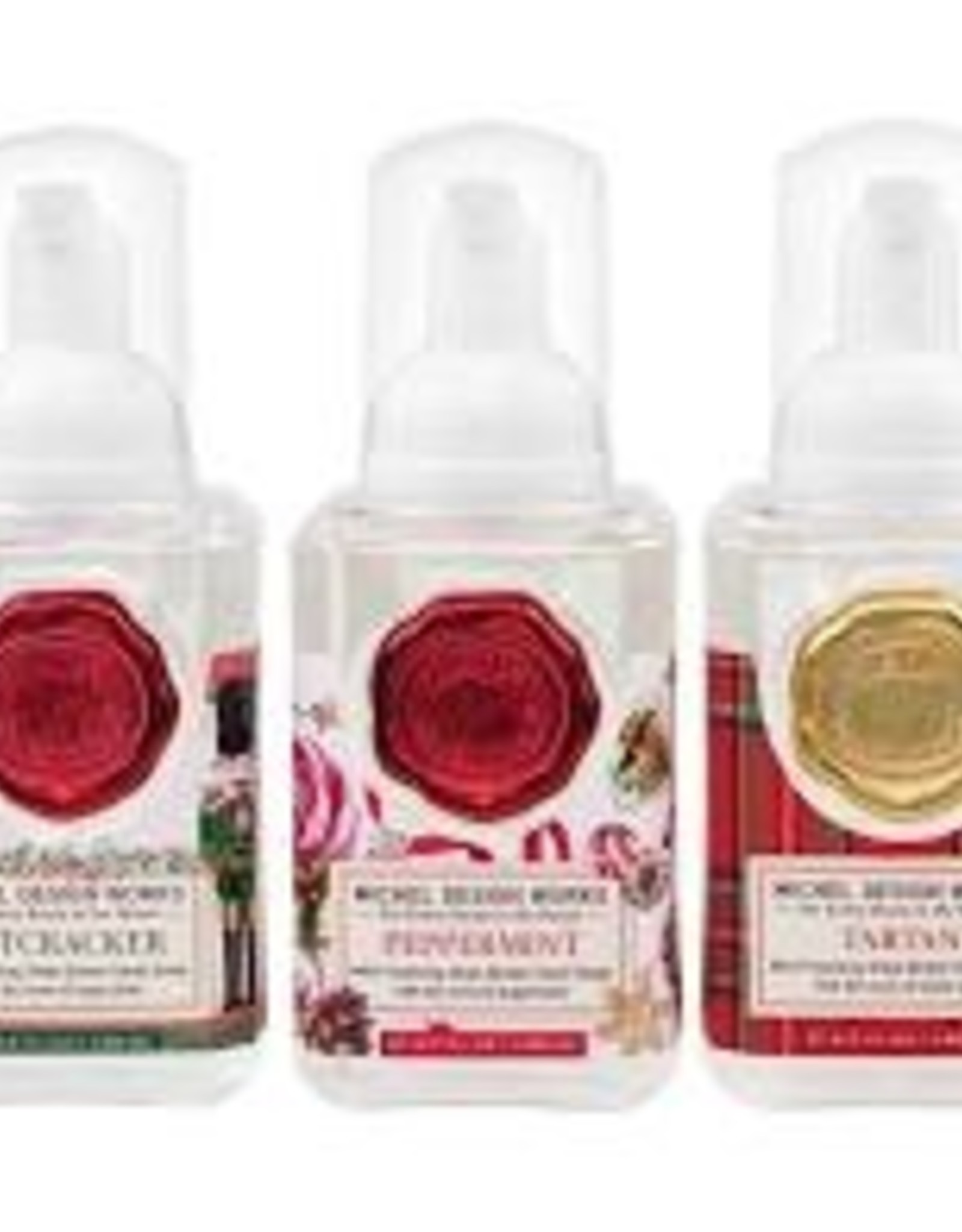 MichelDesign Works Mini Foaming Soaps, Peppermint, Tartan, Nutcracker