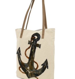 CottnCurls Book Bag Tote, Anchor