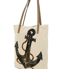 CottnCurls Book Bag Tote, Anchor