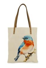 CottnCurls Book Bag Tote, Bluebird