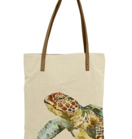 CottnCurls Book Bag Tote, Sea Turtle