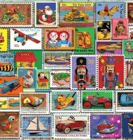 White Mountain Puzzles Puzzle, Christmas Toy Stamps